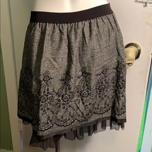 Cute gray skirt with tulle underlay